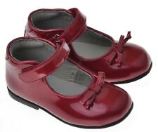 Girls Touch Fastening Strap Shoe Lelli Kelly Bea Metallic Red EU Size 21 - 25