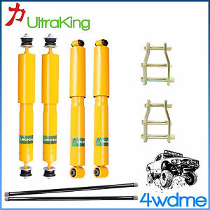 "Ford Courier PC PD PE PG PH  Front & Rear Shocks + Torsion Bar 2"" HD Lift Kit"