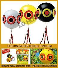 3 dissuasore per uccelli pallone volatili spaventapasseri spaventa scaccia 40 cm