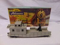 "Vintage Athearn train HO Scale 1280 Santa Fe Work Caboose in box USA 6"" gray"