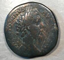 ANCIENT ROME  Marcus Aurelius As Caesar Sestertius     #A472