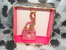 New Juicy Couture Pink Daydreamer Bag Charm For Bracelet Necklace or Handbag