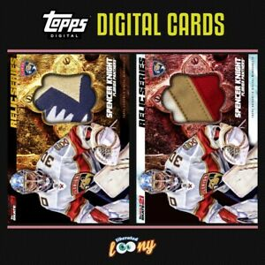 SPENCER KNIGHT (FLORIDA PANTHERS) RELIC SERIES TOPPS SKATE NHL DIGITAL CARDS