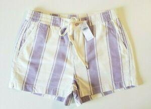 American Eagle Women's Purple/White Stripe Hi-Rise Jean Shorts Size S NWT $39.95