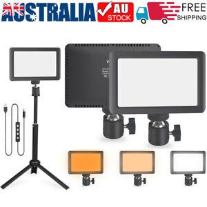 Dimmable Camera LED Video Light Panel Lamp + Bracket Tripod for Photo Lighting