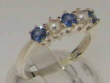 Eternity Natural Sapphire White Gold Fine Rings