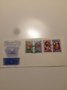 Anguilla Stamps 1971 FDC Christmas-Paintings (d)