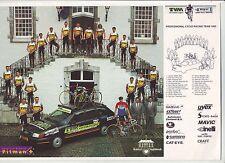 CYCLISME carte EQUIPE CYCLISTE TVM verzekeringen 1993  format 29,5 x 20,5 cm