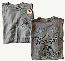 NWT Mens Wrangler Graphic Logo S/S WR7358 GRAY Comfort Fit T Shirt Large New