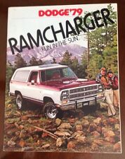 American Dodge Truck Ram Charger 1979 Sales Broucher