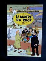 """Pastiche des aventures de TINTIN """"le maitre du Rock"""" par Alain le Bussy 150 ex."""
