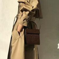 Women's Bag Crocodile Pattern Handbag Fashion Small Shoulder Bag Messenger Bag