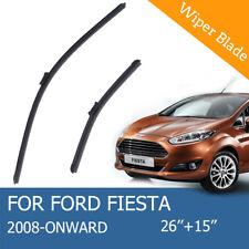 "Ford Fiesta 2008 - Onwards BRAND NEW AERO FLAT WINDSCREEN WIPER BLADES 26""15"" AU"