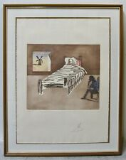 "SALVADOR DALI Rare Signed Numbered Aquatint Etching ""Le Legacy"" Don Quixote COA"