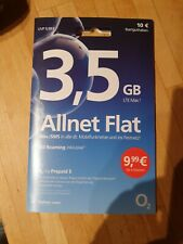 Prepaid Karte O2 Allnet Flat 3, 5 GB