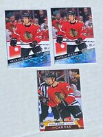 NICOLAS BEAUDIN UPPER DECK SERIES ONE YOUNG GUNS LOT OF 3 ALL MINT CANVAS ++