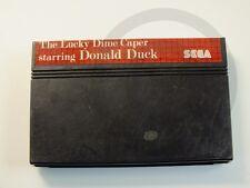 !!! SEGA MASTER SPIEL Donald Duck Dime Caper, gebraucht aber GUT/OK !!!