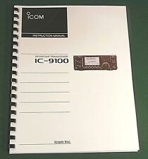 Icom IC-9100 Instruction Manual - Premium Card Stock Covers & 32 LB Paper!