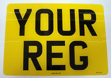 MOTOR CYCLE NUMBER PLATE 9 x 7  100% MOT & ROAD LEGAL 1ST CLASS FREE POST