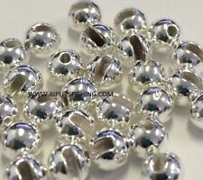 """Tungsten Slotted Fly Tying Beads Silver 2.0 Mm 5/64 """" 100 Count"""