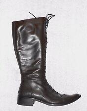 MURATTI  bottes zippée cuir marron P 36 TBE