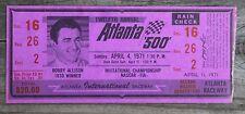 Vintage 1971 Nascar 12th Annual Atlanta 500 Ticket AJ Foyt No. 21 Mercury Win