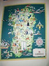 '50 vecchia cartina SARDEGNA ORISTANO CAGLIARI NUORO CARBONIA SASSARI ALGHERO