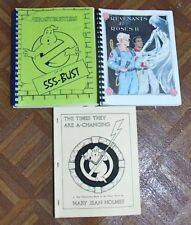 VINTAGE REAL GHOSTBUSTERS FANZINE LOT OF 3 DIFFERENT FREE SHIPPING!   LOT 164