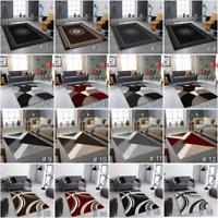NEW MODERN DESIGN RUGS  LIVING ROOM RUG RED BLACK GREY RUNNER  CARPET CHEAP MATS