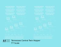 K4 TT Decals Tennessee Central Offset Twin Hopper White