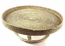 Quality Rattan Wicker Stand Tray 41cm diameter