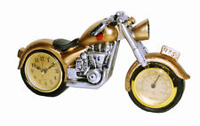 Retro Design Motorrad Bike Chopper Biker Quarzuhr Quarz Uhr Kaminuhr Tischuhr