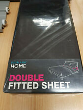 Double Fitted Sheet Black Primark Home new