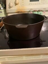 Early Antique Hammered Lodge No. 8 Cast Iron Dutch Oven