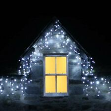 Bright White 240 LED Icicle String Lights Outdoor Christmas Decoration Party