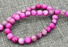 8mm pink Crazy Lace Agate Gemstones Loose Beads 15""