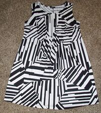 ALYX Woman Professional Black & White Sleeveless Dress - Size Plus 1X
