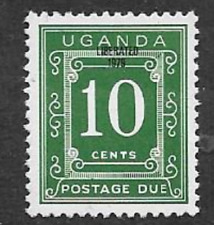 UGANDA MINT POSTAGE DUE STAMP - 1979 - OVERPRINT 'LIBERATED 1979' ON 1967 ISSUE