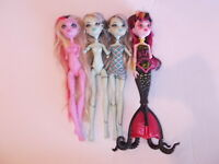 Monster High Frankie Stein Draculaura Lot Of 4 Dolls
