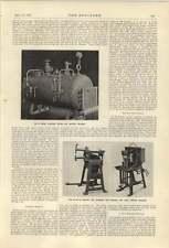 1921 Buckley Saunders Spot Welding Kirke Gas-fired Boiler