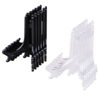 12Pcs Display Stand Easel Plate Holder Picture Photo Art Plastic Foldable N SU