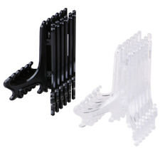 12Pcs Display Stand Easel Plate Holder Picture Photo Art Plastic Foldable NWJEU