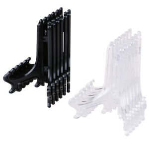 12Pcs Display Stand Easel Plate Holder Picture Photo Art Plastic Foldable P3
