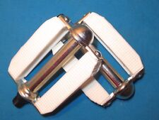 """Bicycle Classic Cruiser White Block 9/16"""" Pedal Set - New"""