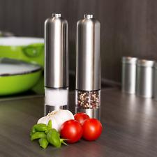 Silit by WMF Gewürzmühlen Set Salz & Pfeffermühle LED Elektrisch Keramikmahlwerk