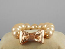 Kate Spade Rose Gold ALL WRAPPED UP IN PEARLS Bow Faux Pearl Bracelet O0RU2715