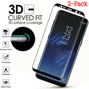 Cover Tempered Glass Screen Protector For Samsung Galaxy S8 S9 Plus Note 9 S7