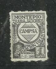 7287-SELLO FISCAL CAMPSA,MONTEPIO TRABAJADORES,SPIN REVENUE 1 PESETA.PETROLEO,GA