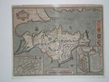 Original JOHN SPEED map of ISLE OF WIGHT FIRST EDITION. EARLY COLOUR