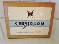 plaque  magasin-support publicitaire chevignon-togs unlimited-butterfly-papillon